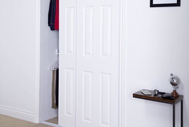 28 6 panel bypass closet doors 72 in x 96 in colonial white
