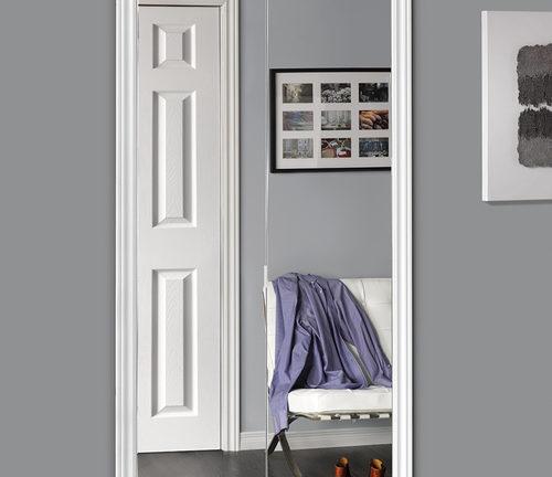 Sliding Bifold Door With Polished Edge Mirror U0026 Slimline Frame   Renin