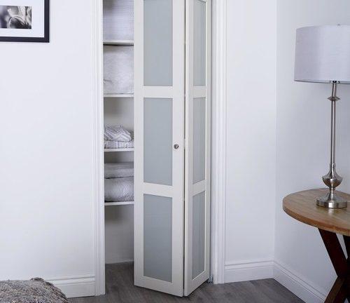 Prefinished Engineered Wood Bifold Sliding Door With 3