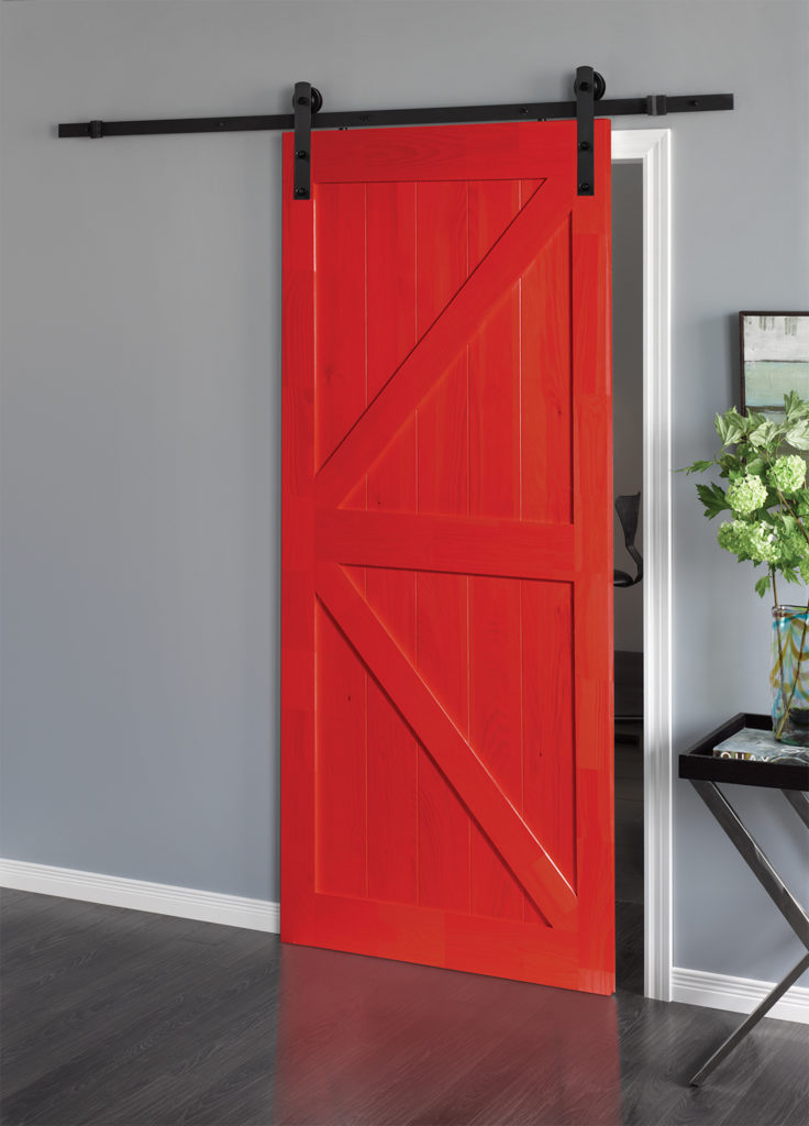 A picture of a Unique Coloured Door in red.