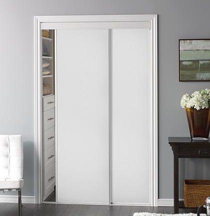 Sliding Bypass Door With White Panel Insert Amp Narrow Stile