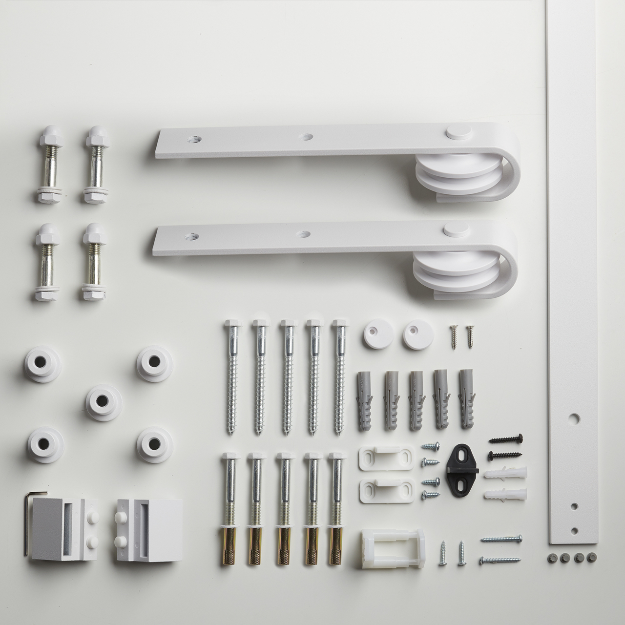 Coloured Bent Strap Flat Track Barn Door Hardware Kit Renin