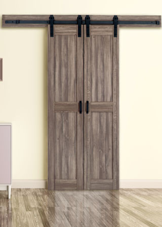 Duplex barn door renin for Narrow barn door