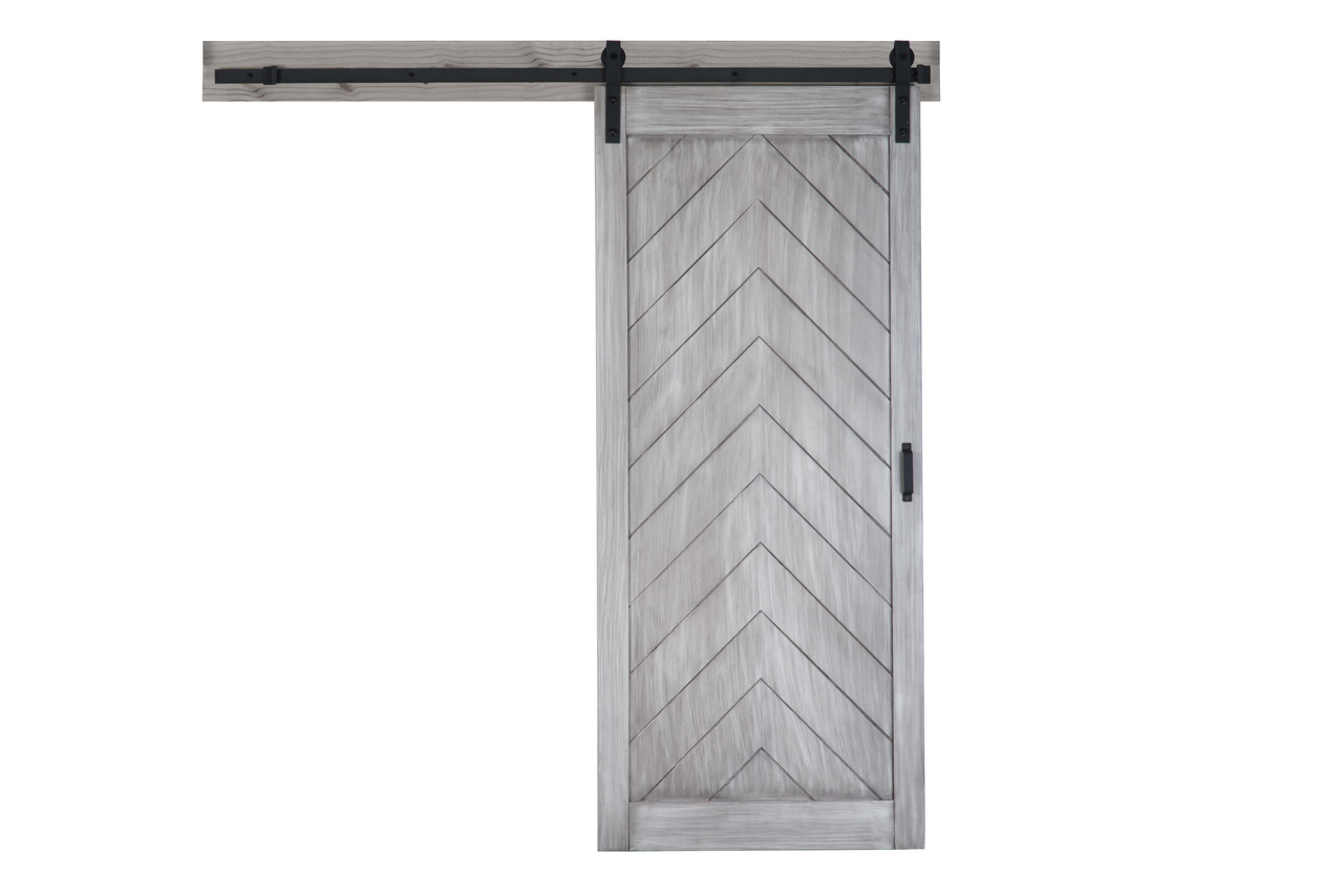 Herringbone Barn Door With Easy Glide Soft Close Renin