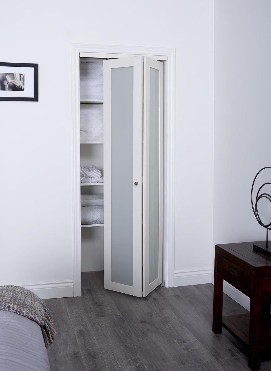 Prefinished Engineered Wood Bifold Sliding Door With 1