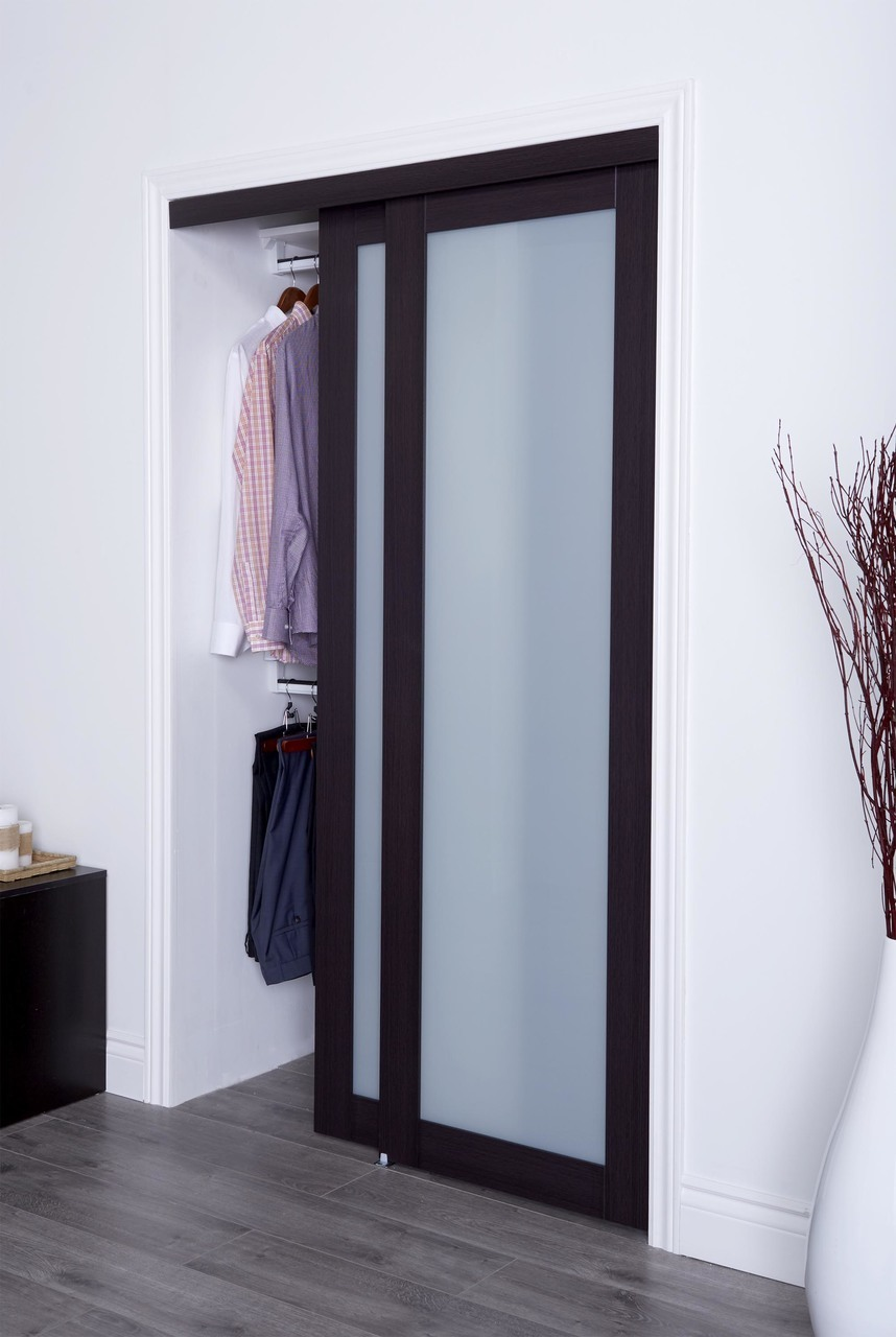 Prefinished Engineered Wood Bypass Sliding Door With 1