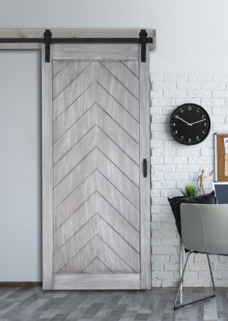 Herringbone Barn Door With Easy Glide Soft Close Renin
