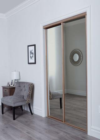Aurora Premium Sliding Door With Mirror Insert Amp Slimline