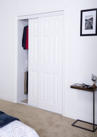 Sliding Bypass Door With Prefinished 6 Panel Design Insert