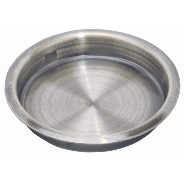 Round Flush Pull Satin Nickel