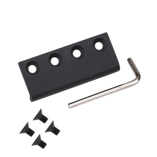 Hardware Biparting Track Joiner Matte Black Product Float