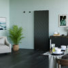 Invisiglide 36-inch Matte Black Sherwood Lifestyle