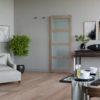 Invisiglide 36-inch Satin Nickel Glim Lifestyle