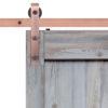 Driftwood Barn Door Slab CP Hardware Strap Close