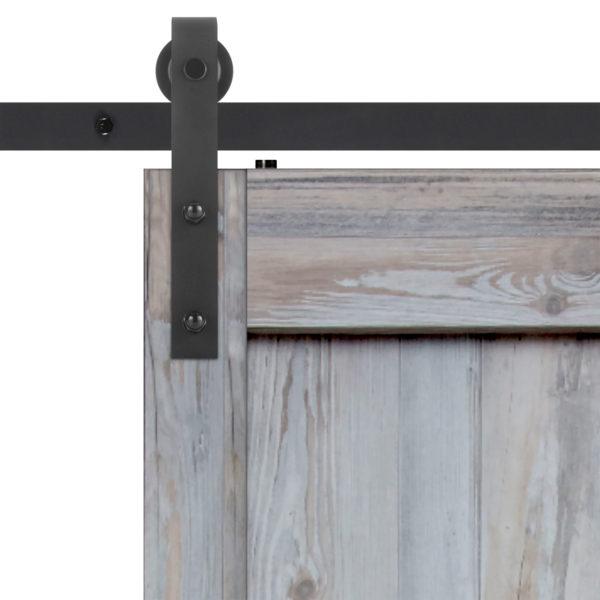 Driftwood Barn Door Slab Hardware Strap Close