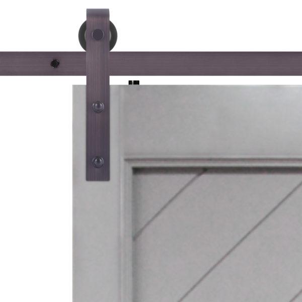 Gatsby Barn Door Slab Hardware Strap Close