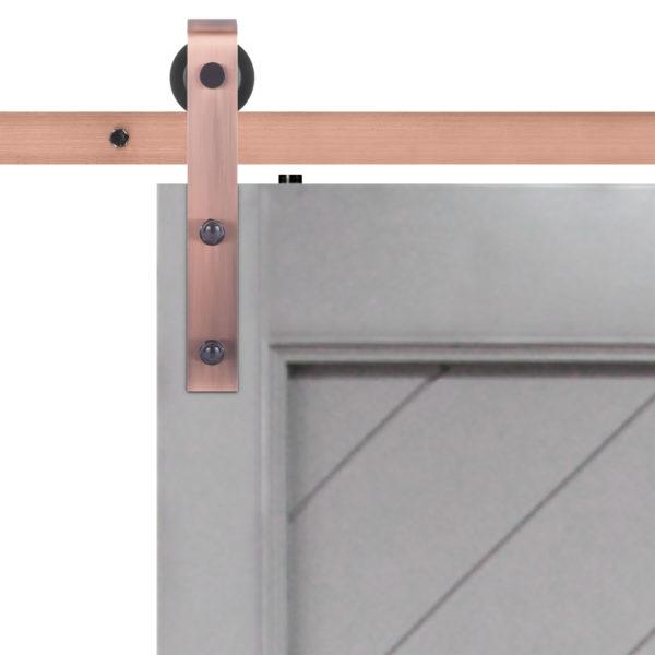Gatsby Barn DoorSlab Hardware Strap Close