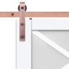 Lace Barn Door Slab Hardware Strap Close