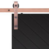 Sherwood Barn Door Slab Hardware Strap Close