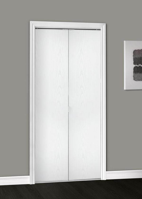Parsons Flush White Wood Textured Single Closed Lifestyle