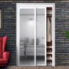 Harmony Closet Doors White Mirror Bypass Beauty