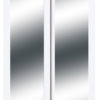 Harmony Closet Doors White Mirror Bypass Close Crop