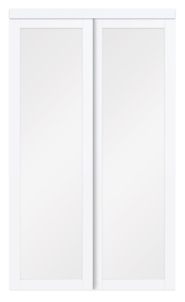 Twilight Closet Doors White Frosted Glass Close Crop