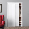 Twilight Closet Doors White Frosted Glass Beauty
