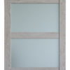 Barn door with opaque glass closeup