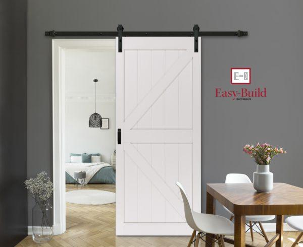 Easy Build G2 Stone K Barn Door Beauty Image with EB logo