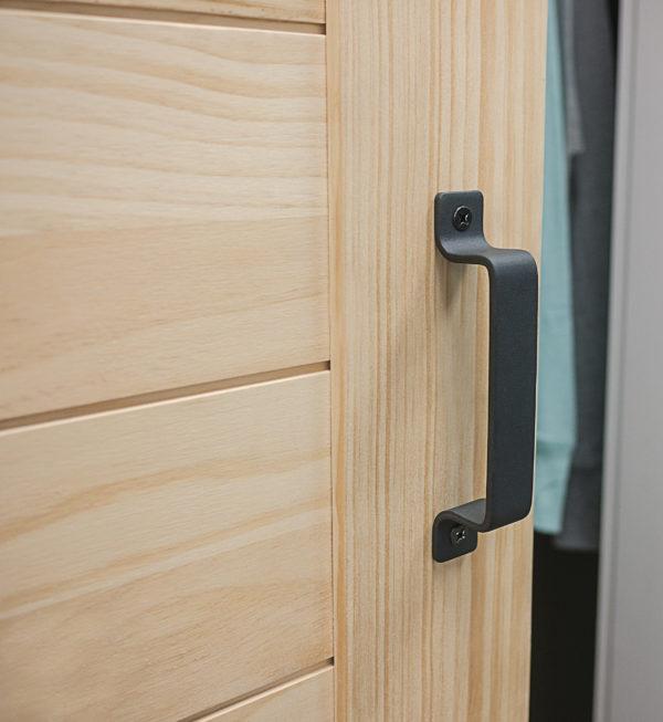 Flair Barn Door Horizontal Plank Handle Close Up