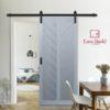 BD Easy Build G2 Langley Barn Door Beauty Image with EB logo
