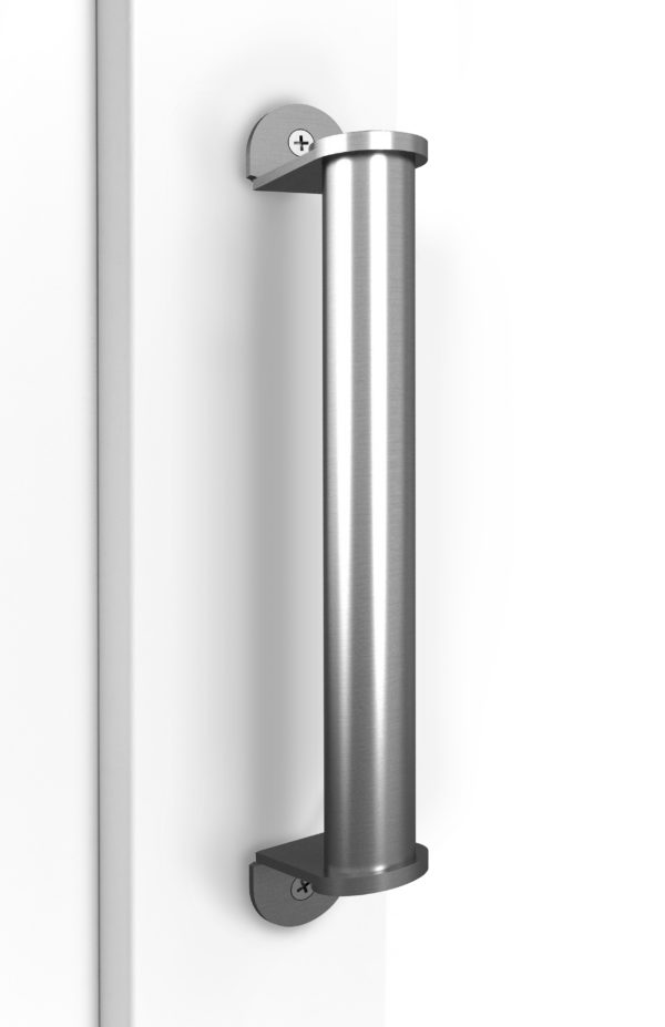 Deben Door Handle On Door Satin Nickel