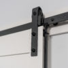 Easy Latch Barn Door Privacy Hardware Kit close up installed