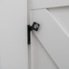 Easy Latch Barn Door Privacy Hardware Kit closed