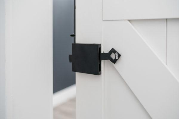 Easy Latch Barn Door Privacy Hardware Kit open
