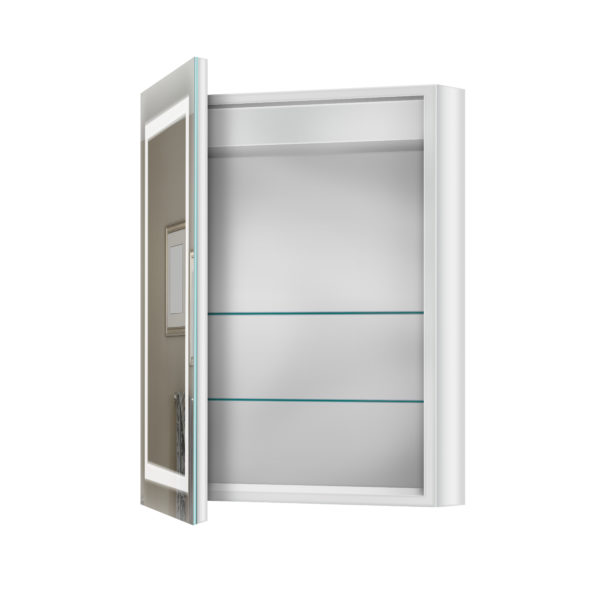 Mirror Medicine Cabinet Door Open LED Product Float