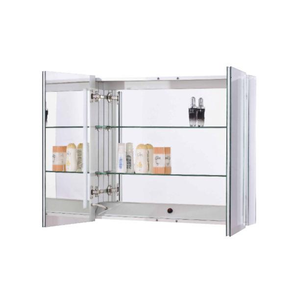 Mirror Medicine Cabinet 2 Door Open LED Product Float