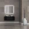 Interior of modern bathroom with granite tile walls