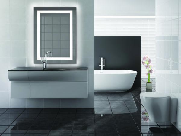 modern bathroom including bath and sink