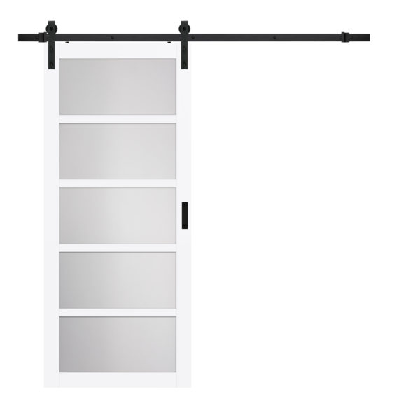 Pavilion 5 Lite Barn Door Bright White Product