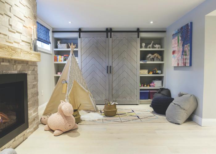 Herringbone Chevron-Design Complete Barn Door Kit – Featured in Property Brothers