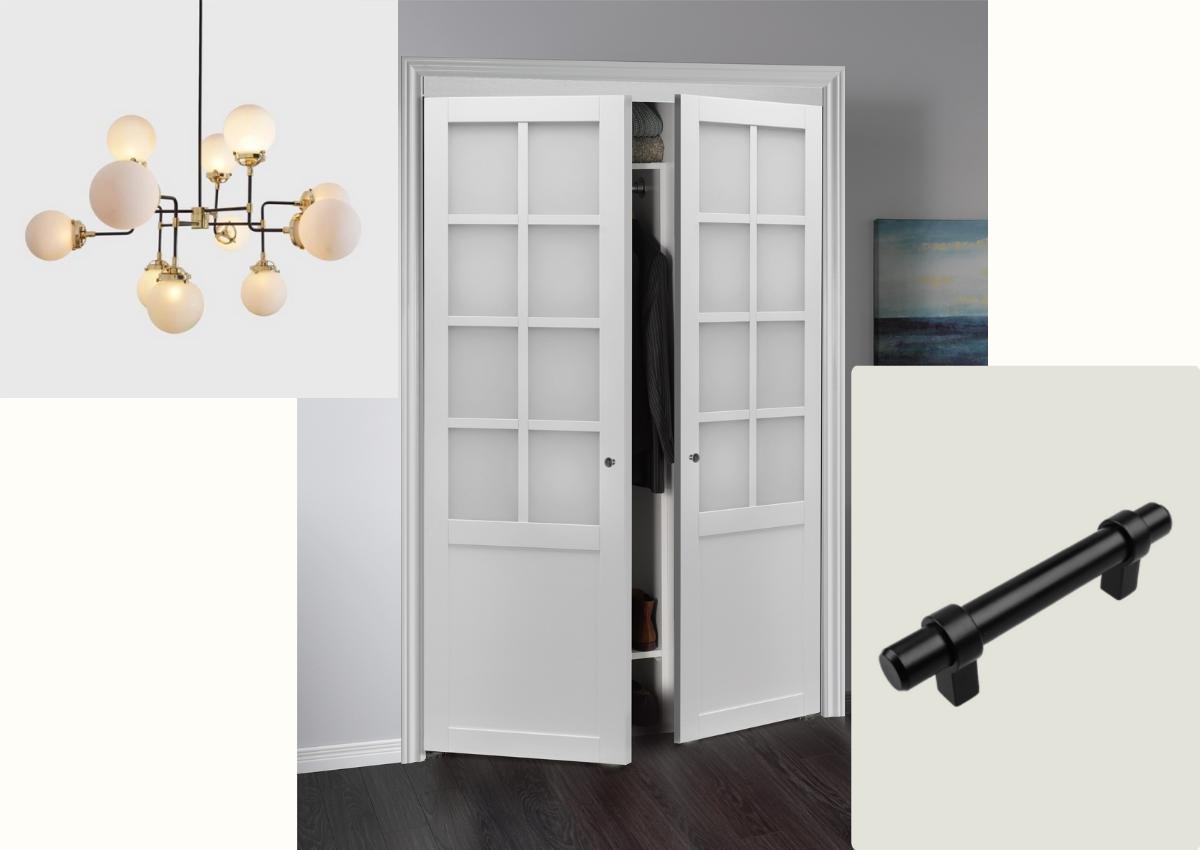Provincial 8-Lite Pivot Closet Door