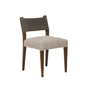 Low back brown wooden chair