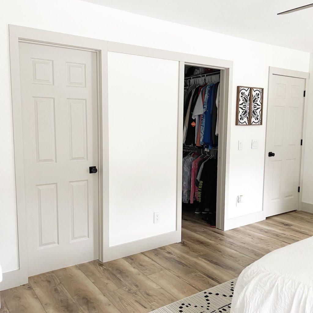 Stacy Smith Closet Before Sliding Door